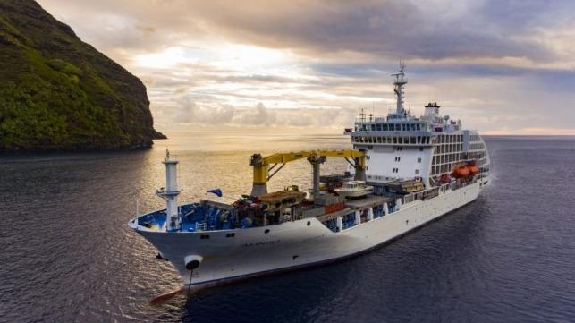 Buque de carga y pasajeros Aranui 5 devuelto por COVID-19