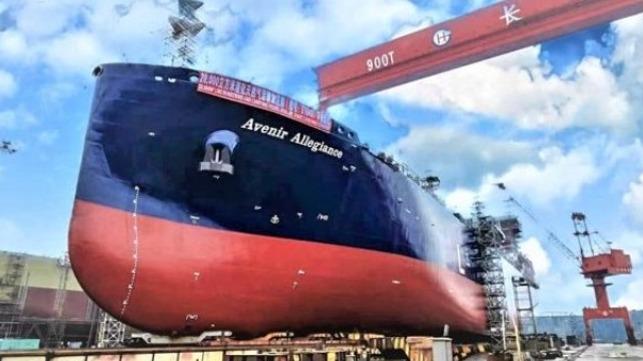 Lanzamiento del buque de abastecimiento y abastecimiento de GNL más grande del mundo