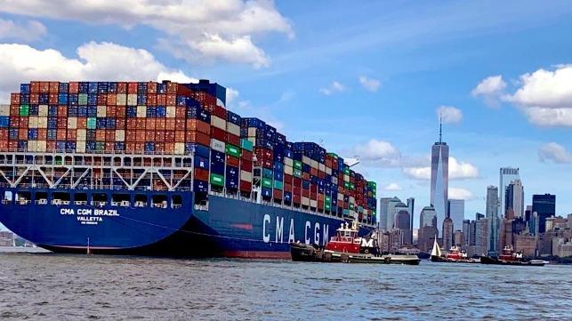 CMA CGM Boxship establece un nuevo récord de tamaño para la costa este de EE. UU.