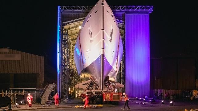 Damen Shipyards Cape Town lanza el primer MMIPV de la Marina de Sudáfrica