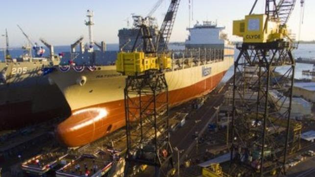 Matson lanza el segundo gran Con-Ro en el astillero NASSCO
