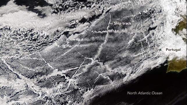 Los científicos miden los cambios en las nubes en los transitados corredores de barcos