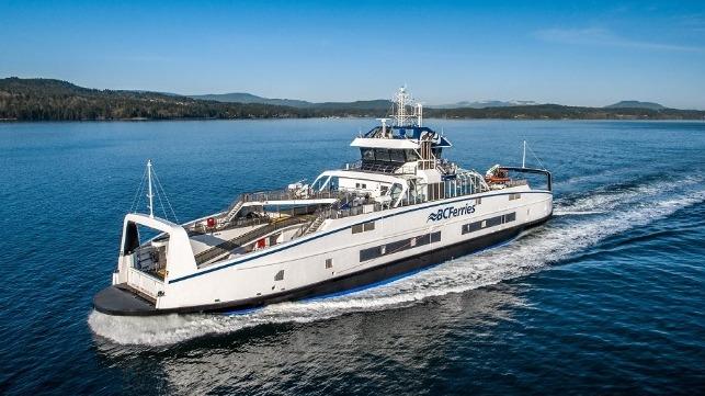 BC Ferries nombra dos barcos construidos por Damen en Victoria