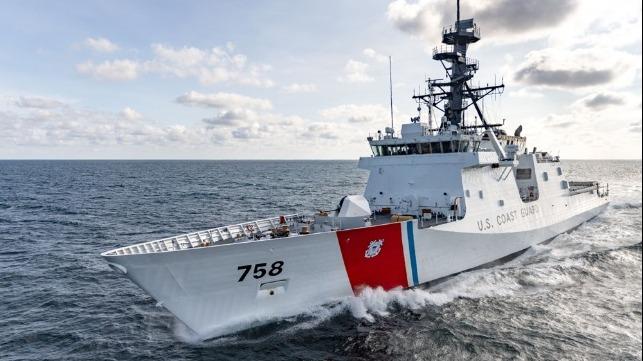 El barco más nuevo de la Guardia Costera de EE. UU. Se somete a pruebas en el mar