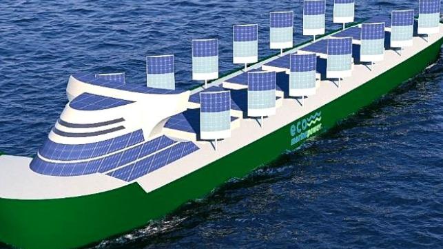 Velas rígidas y energía solar para envíos sin emisiones