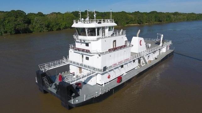 El astillero Conrad entrega un barco remolcador de barcaza de canal de 6.000 CV