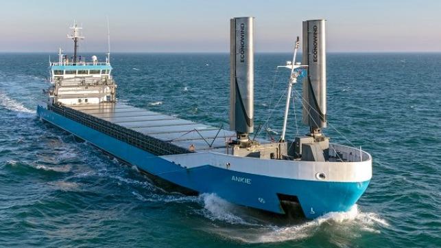 Nueva tecnología Wind-Assist entra en servicio en el Mar del Norte