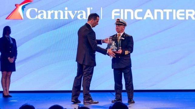 Carnival recibe el tercer crucero de la clase Vista