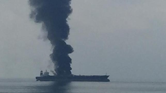 Dos muertos, tres desaparecidos en un incendio a bordo del VLCC frente a Sharjah