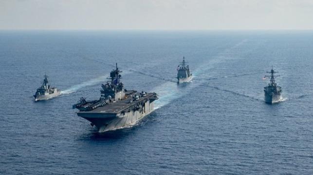 Buque de guerra australiano se une al ejercicio estadounidense en el mar de China Meridional