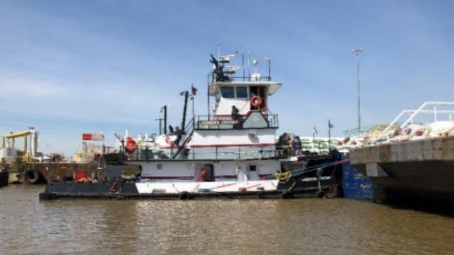 Problema mecánico que provocó que el buque remolcador golpeara el puente