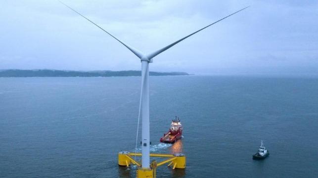 La turbina eólica flotante más grande del mundo comienza a funcionar