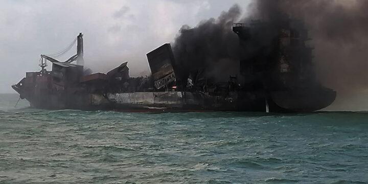 Incendio casi quemado en X-Press Pearl;  Operación de remolque posible